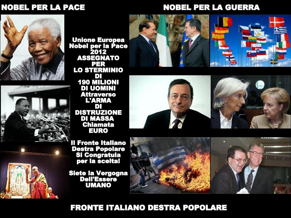 Asegnato il Nobel 2012 ai signori della Guerra