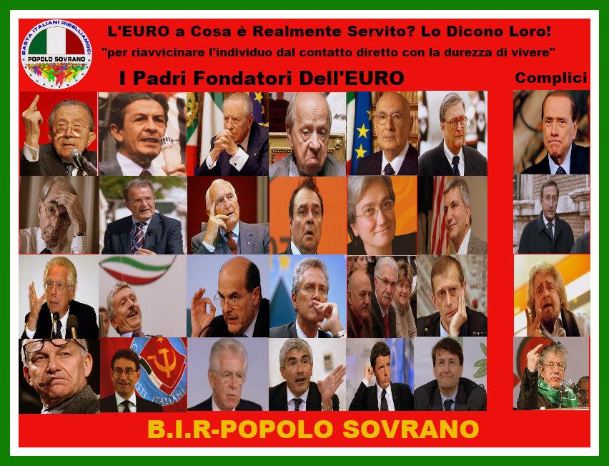 I Padri fondatori dell'Euro e i Complici