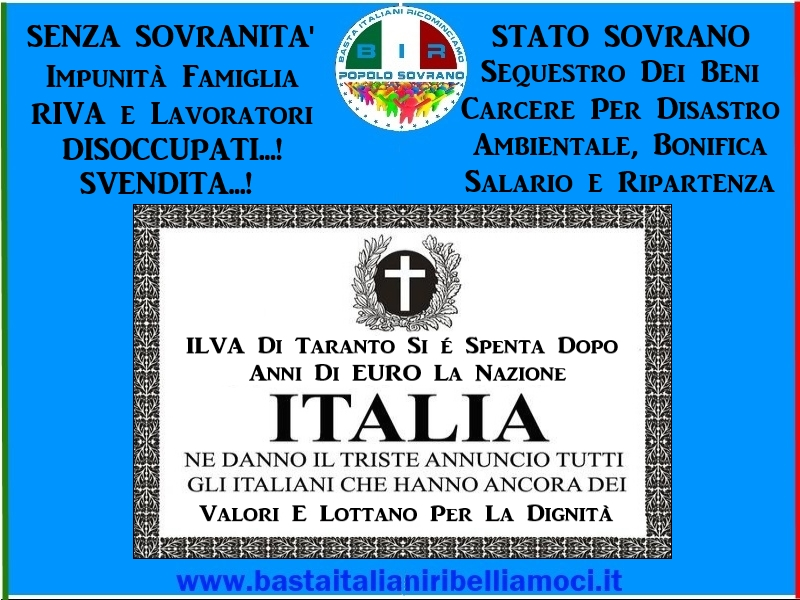 Ilva Taranto-B.I.R-Popolo Sovrano