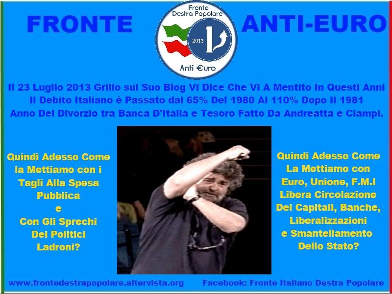 Fronte Anti Euro Destra Popolare_Grillo Ammette Di Aver Mentito In Questi Anni