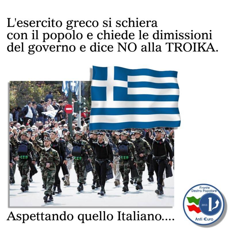 esercito greco e colpo di stato_fronte anti euro destra popolare