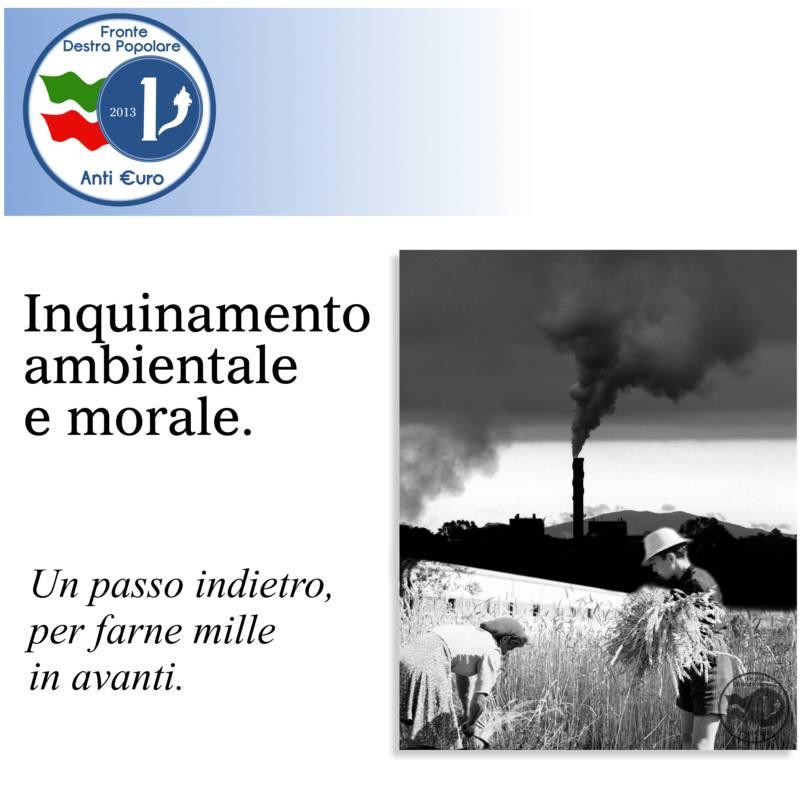 inquinamento ambientale e morale_fronte destra popolare