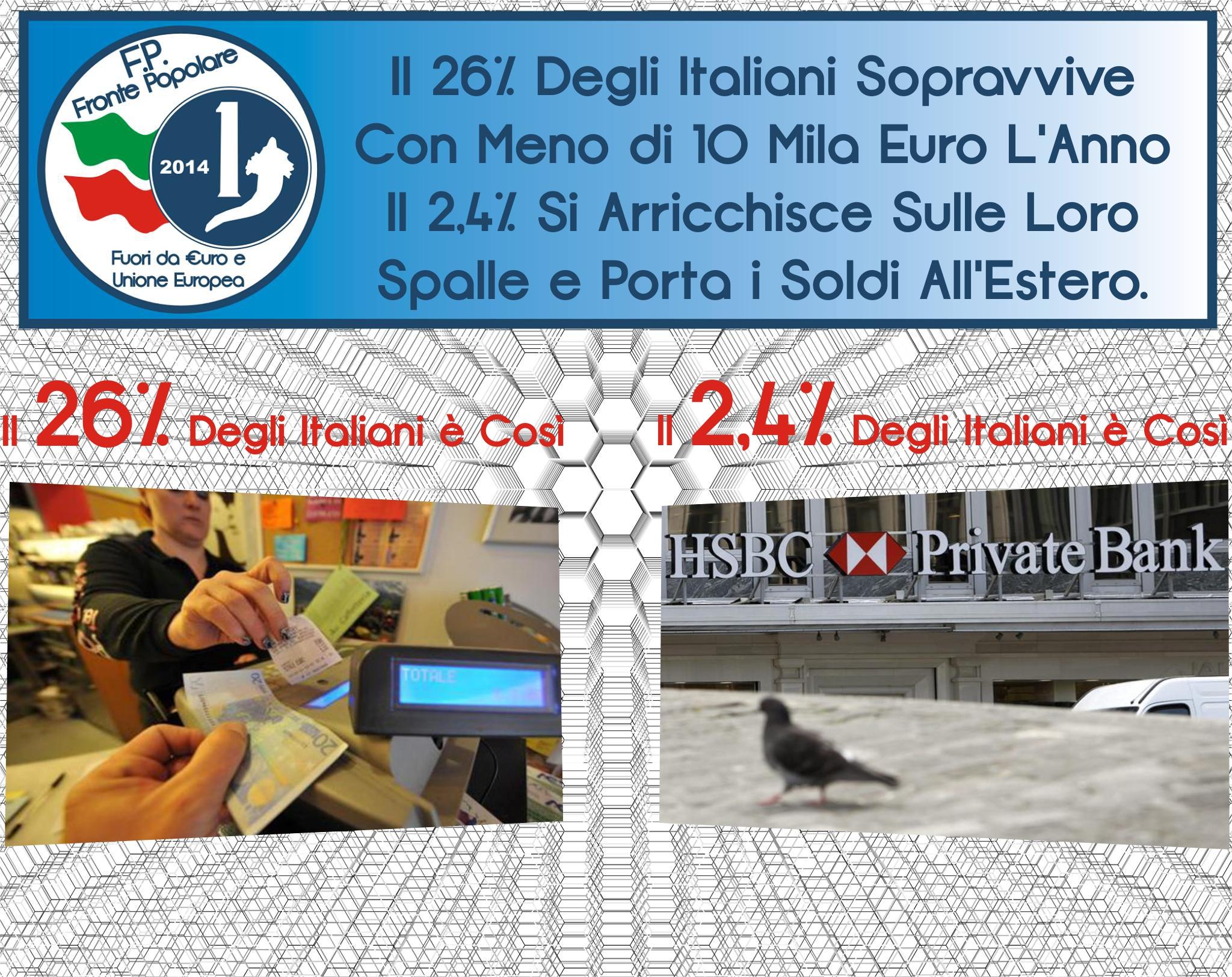 un italiano su quattro vive com meno di 10mila euro_fronte popolare
